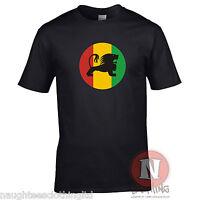 RASTA LION t-shirt Smoking Dub reggae ganja dancehall Teeshirt