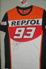 Marc Marquez signed official Repsol #93 T-Shirt - signed on Front