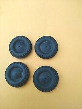 4 Vollgummi-Reifen für Blechspielzeug-Autos-ca 2,6 cm