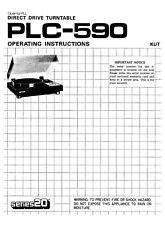 Pioneer Series PLC-590 vintage turntable PAPER COPY of so rare owner's manual
