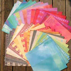 "89 x Sheets 12"" x 12"" Scrapbook papers Kit Job Lot Die Cut Craft Card Making"