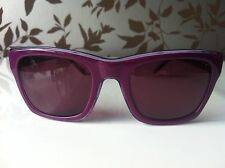 Lacoste Live Sunglasses Plastic Purple D Shape UV400 Mirrored Lenses RRP £100!