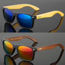 Bamboo Sunglasses Wooden Men Women Retro Vintage Wood Mirror Polarized Glasses