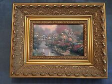 Thomas Kinkade picture of Lamplight Bridge #41005. Framed Print Canvas Board.