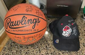 Lady Bulldogs Signed NCAA Final Four Basketball & Signed UGA Hat (Check Pics)