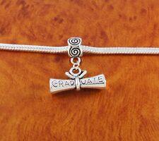 Diploma graduate charm slider bead for European charm bracelet or necklace