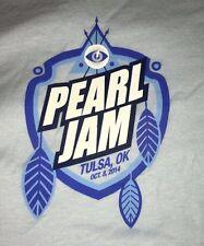 PEARL JAM - Tulsa OK T-SHIRT Size XXL - Oct 8 2014 WOW lightning bolt okc