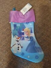 Frozen Elsa Disney Olaf Snowman Christmas Stocking Free Tracking New With Tags