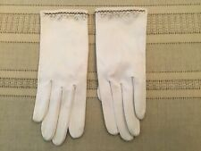 Vintage Christian Dior Cream/Beige Gloves Womens Size 6 1/2