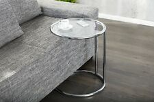 Designer Coffee Table Chrome in Silver Glass Table Coffee Table Repro Art Deco