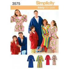 SIMPLICITY SEWING PATTERN UNISEX CHILD'S TEENS' & ADULT ROBE XS - XL 3575