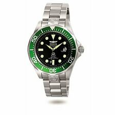 Invicta Men's Pro Diver Automatic 300m Green Bezel Stainless Steel Watch 3047