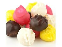 Crown Candy 1.5, 3 or 5lb COCONUT BON BONS Assorted BonBons Chocolate & Fruit