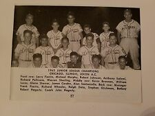 Chicago Lexon A.C. & Deroit Citizens Mutal Insurance 1962 Baseball Team Picture