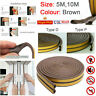 Draught Draft Excluder Self Adhesive Rubber Door Window Seal Strip Roll 5/10 M