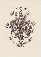 2 EX-LIBRIS Odile PICOT-BOURNISIEN gravés sur bois par Emile TILMANS (1883-1960)