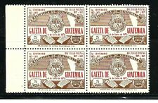 Guatelmala Stamps- Scott # C456/Ap90-5c-Mint/Nh-1971 -Air Postal-Plate of 4