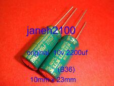 10p SANYO 10V 2200UF WG AUDIO AMPs Capacitor 10x23mm (B36)