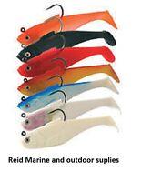 "*Sidewinder Super Solid Shad » Shads 5"" 43gr  3pkt- Cod Bass Wrasse Fishing Lure"