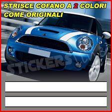 MINI COOPER Strisce Adesive Bonnet Stripes a 2 colori  - fasce adesive cofano