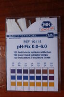 pH-fix test strips 0.0-6.0 Macherey-Nagel 100 color-fixed indicator str 92115
