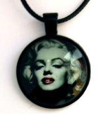 Médaillon retro vintage + collier / Medallion + Chain necklace - Marilyn Monroe