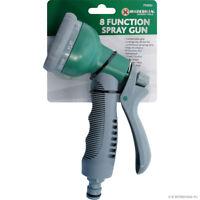 8 Function Spray Nozzle Soft Grip Gun Universal Hose Water Sprayer Multi Pattern