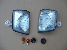 Blinker vorne Tuning grau schwarz für MB 190 W201 links+rechts +Hella Birnen neu