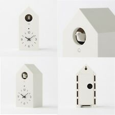 MUJI Mechanical cuckoo Wall or put clock White Japan light sensor