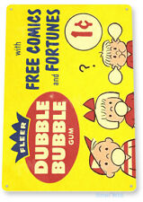 A21Tin Sign Double Bubble Fortune Comics Gum Vintage Retro Metal Sign Décor C391