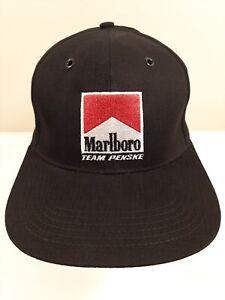 Vtg EMBROIDERED MARLBORO TEAM PENSKE F1 RACING Hat Baseball Cap One Size Nice!