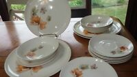 Vintage Dinnerware set Autumn Spiral by TAYLOR, SMITH & TAYLOR service for 4 EUC