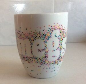 Personalised Coffee Cup, Hand Painted,Ceramic, 300ml,