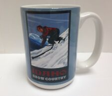 Tree-Free Greetings Idaho Downhill Skiing 15 oz Ceramic Mug w Full-Size Handle