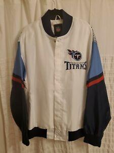 TENNESSEE TITANS City Full Logo Back Satin Lightweight Jacket 3XL Beauty!! NWOT
