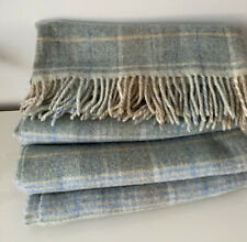 Laura Ashley Cranbourn Plaid Wool Throw New 140x170cm