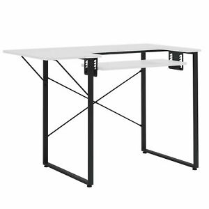 Sew Ready Dart Sewing Table Workstation w/ Folding Top, Black/White (Open Box)