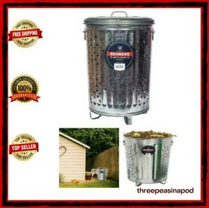 BURN BARREL CAGE METAL 20 Gallon Durable Steel Rubbish Leaf Trash Burning Home
