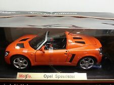 1/18 MAISTO SPECIAL EDITION OPEL SPEEDSTER ORANGE RED bd
