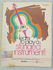 1970 Learn To Play A String Instrument Cello Book 1 music lesson instruct. book