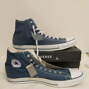 Size 16 Converse all star high tops blue mens. Chuck Taylor AS X9622 navy. Large
