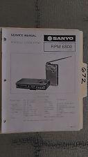 Sanyo rpm 6800 service manual original repair book portable clock radio