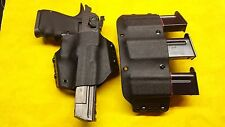 LEFT HOLSTER COMBO BLACK KYDEX FITS DESERT EAGLE 357 44 50 w/ TRIPLE MAG HOLSTER