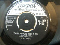 "Clay Cole – Twist Around The Clock 1961 7"" London HLP 9499"
