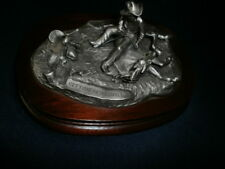 """Vintage 1977 Chilmark Fine Pewter Sculpture """"Getting Acquainted"""" By Don Polland"""