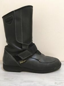 Firstgear Men's Shelter Membrane Biker Boots Sz 8 / 42 Vintage Leather