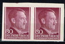 Germany General Government WW2 Hitler's Birthday imperforated pair 1942 MNH
