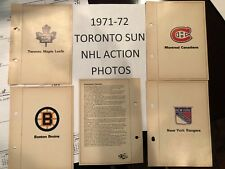 1971-72 TORONTO SUN NHL ACTION PHOTO - TEAM PHOTOS $14.99 ea YOU PICK!!