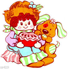 """6.5"""" Strawberry shortcake huckleberry pie wall safe fabric decal cut character"""