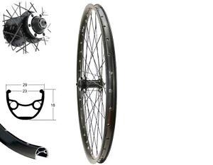 Vorderrad 26 Zoll Disc MTB schwarz Hohlkammerfelge 6 Loch Scheibenbremse Laufrad